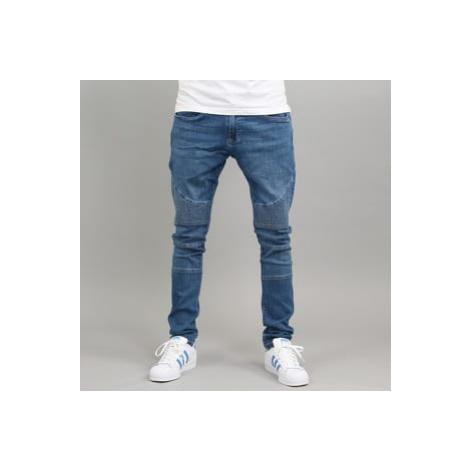 Urban Classics Slim Fit Biker Jeans blue washed