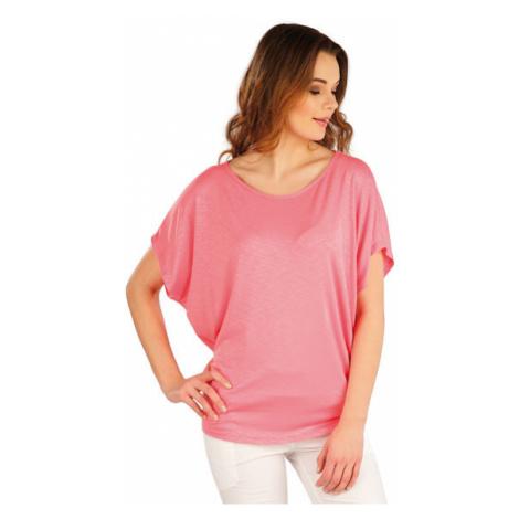 Dámské tričko s krátkým rukávem Litex 5A022 | růžová