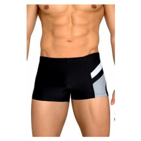 Pánské plavky boxerky Brando černošedé Lorin