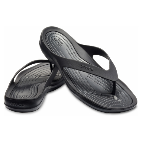 Crocs SwiftWater Flip - žabky Black/Black