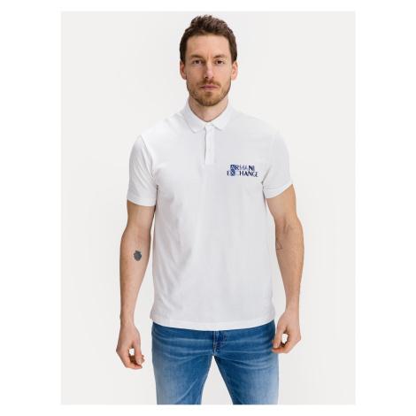 Polo triko Armani Exchange Bílá