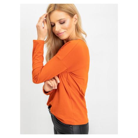 Tmavě oranžová halenka s dlouhými rukávy