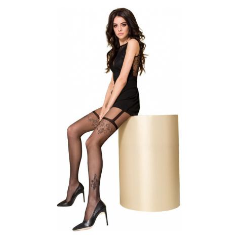 Passion Exkluzivní luxusní punčocháče TI108 černé