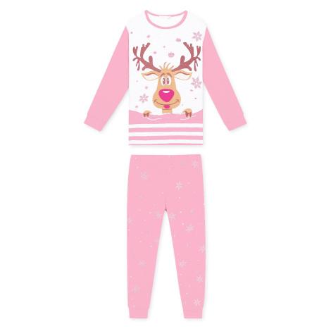 Dívčí pyžamo - KUGO MP1309, růžová světlá