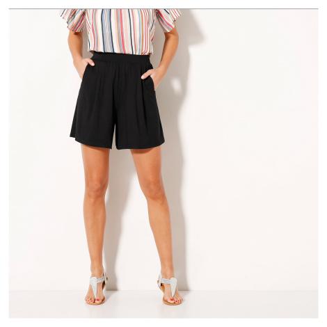 Sukňové šortky, jednobarevné černá