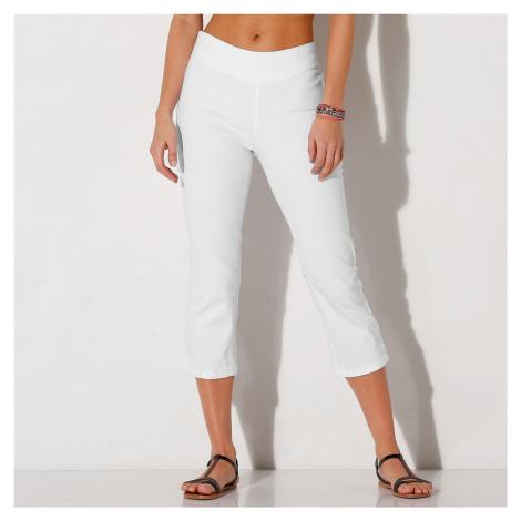 Blancheporte Strečové 3/4 kalhoty bílá