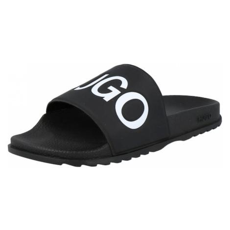 HUGO Pantofle 'Match' černá / bílá