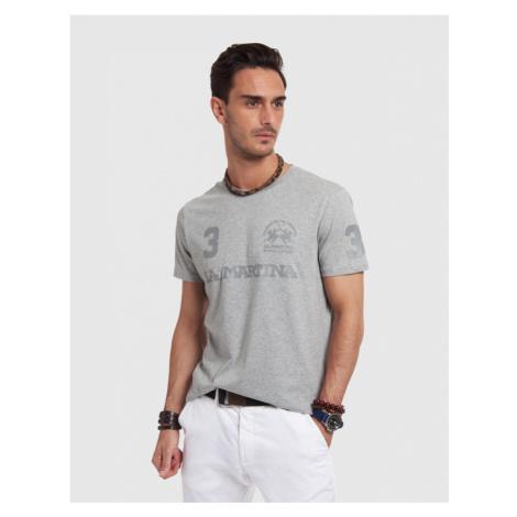 Tričko La Martina Man T-Shirt S/Sleeves Jersey - Šedá