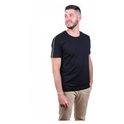 Calvin Klein pánské černé tričko Tape