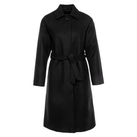 Černý vlněný kabát RED VALENTINO s příměsí kašmíru