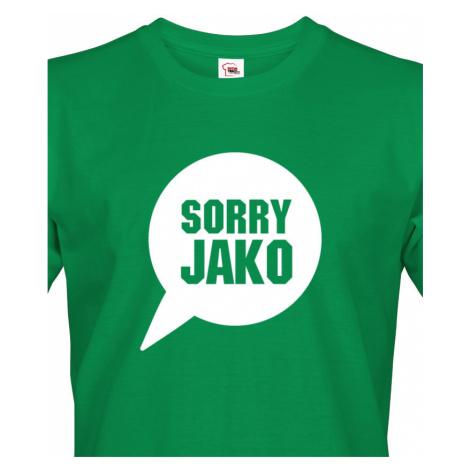 Pánské tričko s potiskem Sorry Jako - triko s hláškou Andreje Babiše BezvaTriko