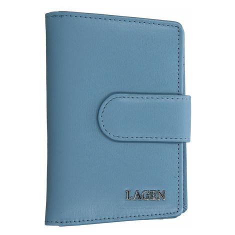 Dámská kožená peněženka Lagen Kamila - modrá