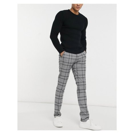 Gianni Feraud grey check skinny fit smart trousers Féraud