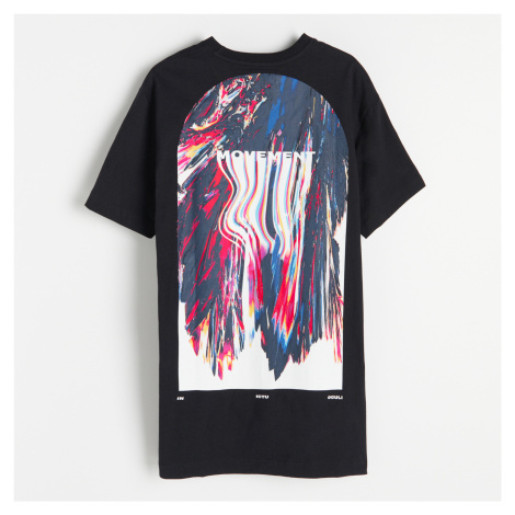 Reserved - Tričko s potiskem na zádech - Černý