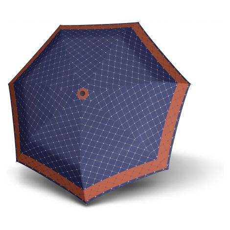 Hnědomodrý plně automatický skládací dámský deštník Rete Doppler