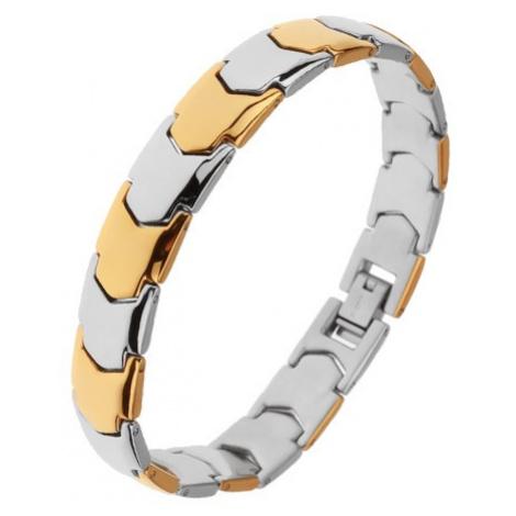 Lesklý ocelový náramek, články Y ve zlatém a stříbrném odstínu Šperky eshop