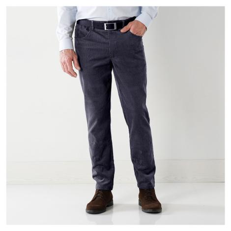 Blancheporte Manšestrové kalhoty, 5 kapes modrošedá