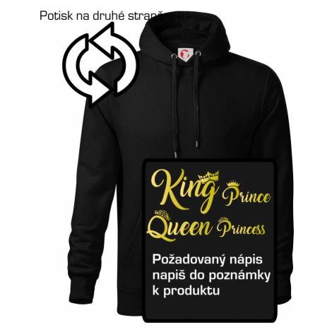 King Queen Rodinná zlatá - Mikina s kapucí hooded sweater