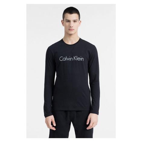 Calvin Klein CK Logo Comfort Tričko dlouhý rukáv - černé