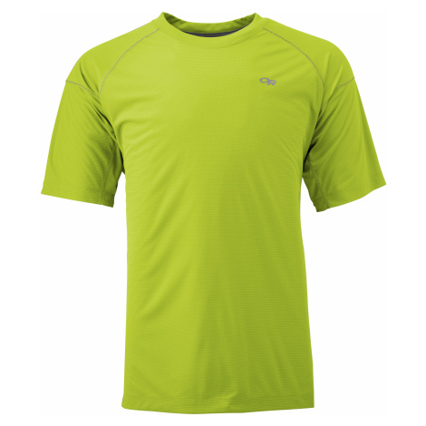 pánské triko OUTDOOR RESEARCH Men'S Echo Tee, Lemongrass/Pewter