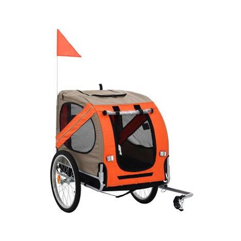 Shumee Vozík za kolo pro psa hnědo-oranžový