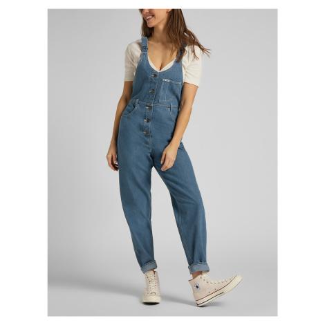 Mom Jeans s laclem Lee Modrá
