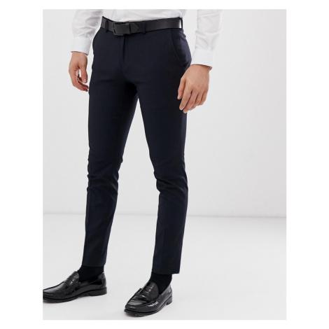 Burton Menswear super skinny fit smart trousers in navy