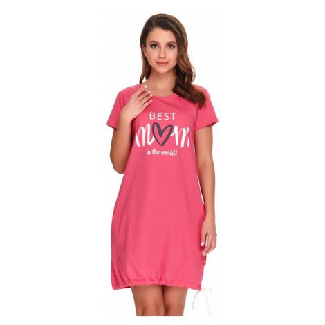 DN Nightwear Kojicí noční košile Best mom 2 růžová