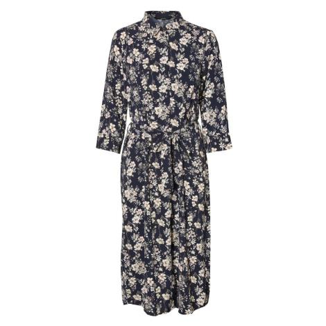 VERO MODA Košilové šaty 'VMDIANA 3/4 CALF SHIRT DRESS WVN DA' tmavě modrá