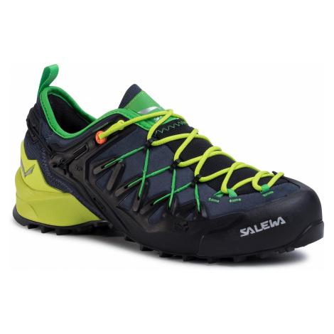Trekingová obuv SALEWA - Ms Wildfire Edge 61346-3840 Ombre Blue/Fluo Yellow