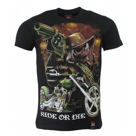 BLACK HEAVEN tričko pánské oboustranný potisk RIDE OR DIE BLACK HAVEN