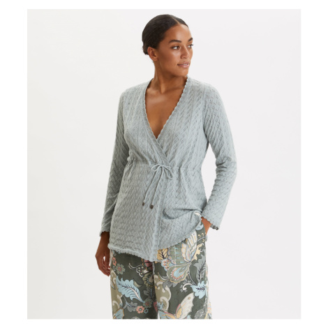 Svetr Odd Molly Wrap Up & Go Long Cardigan - Modrá