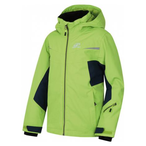 HANNAH ROCCO JR Dětská lyžařská bunda 10007352HHX01 lime green/midnight navy
