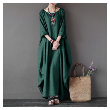 Maxi šaty nadměrné velikosti FashionEU