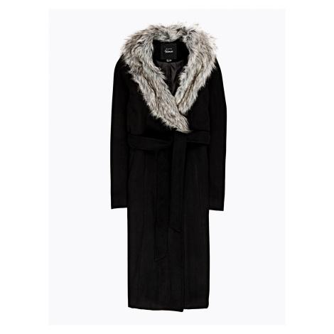 GATE Dlouhý kabát s odepínatelnou umělou kožešinou