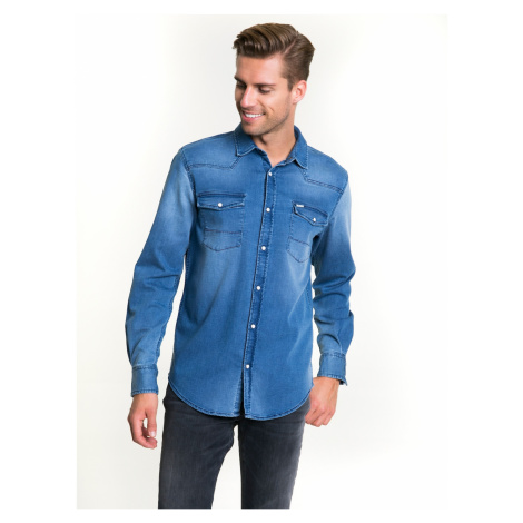 Big Star Man's Longsleeve Shirt 141619 Light Jeans-290