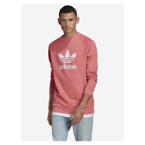 Trefoil Warm-Up Crew Mikina adidas Originals Růžová