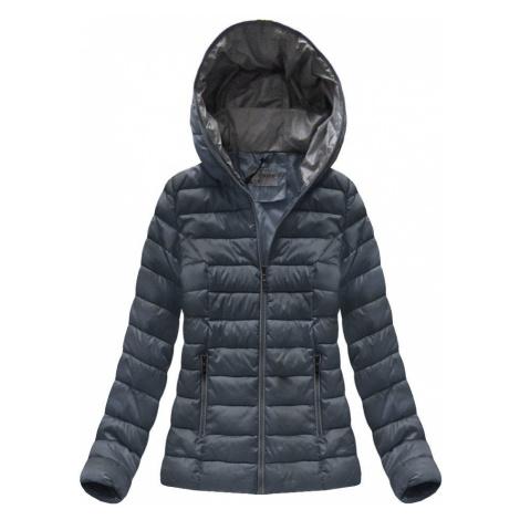 Tmavě modrá dámská přechodová bunda (B7013) tmavěmodrá