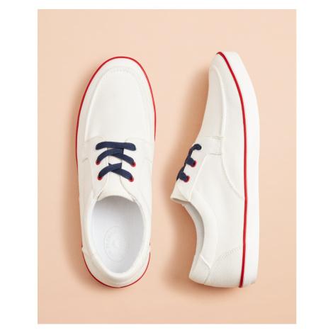 Tenisky Brooks Brothers Rf Slip On Boat Shoe Bright White - Různobarevná
