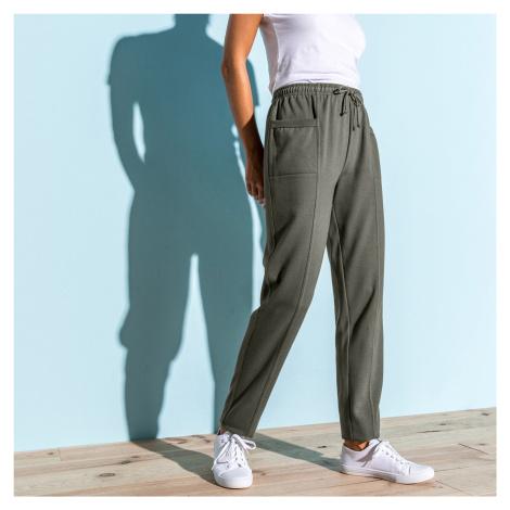 Blancheporte Meltonové sportovní kalhoty khaki