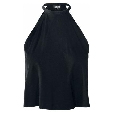 Urban Classics Dámský top se zavazováním kolem krku Top s vázaní za krkem černá
