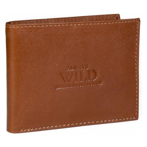 Kožená pánská peněženka Always Wild N7-GTC hnědá