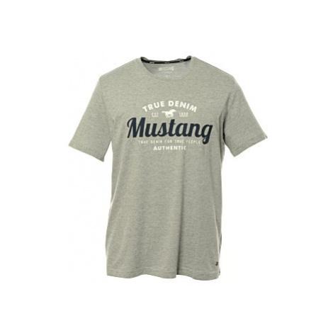 Triko Mustang Alex C Print pánské šedé