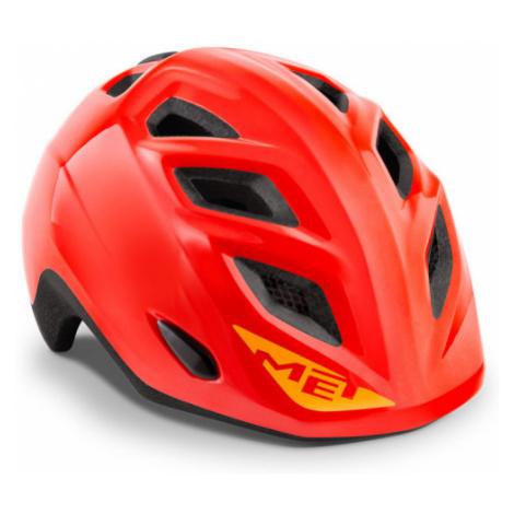 Juniorská cyklistická helma MET Genio červená lesklá