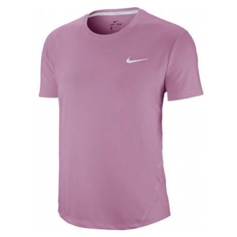 Nike MILER TOP SS W růžová - Dámské běžecké tričko