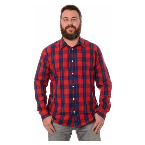 Košile Wrangler 1PKT pánská červeno-modrá