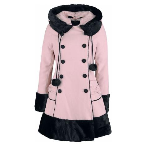Hell Bunny Sarah Jane Coat Dívcí kabát světle růžová