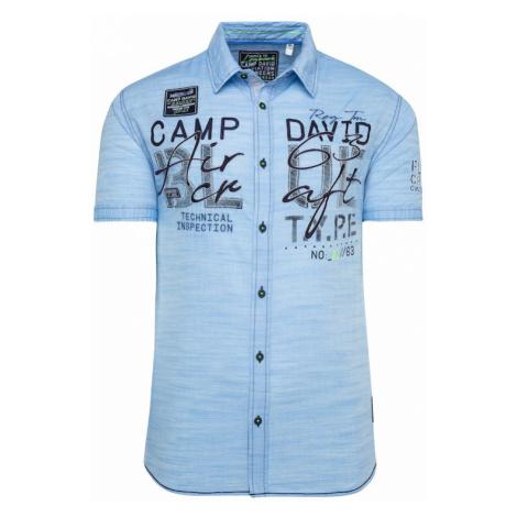 CAMP DAVID Košile světlemodrá / noční modrá
