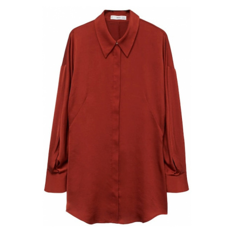 MANGO Tričko 'miranda' rubínově červená