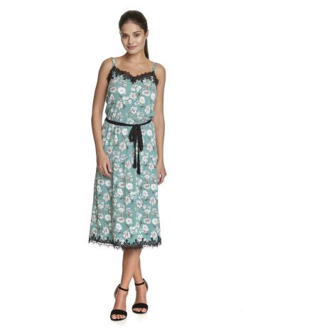 Elegantní šaty na ramínka s krajkou dlouhé Vive Maria